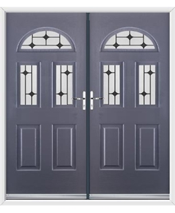 Tennessee French Rockdoor in Anthracite Grey with Black Diamonds