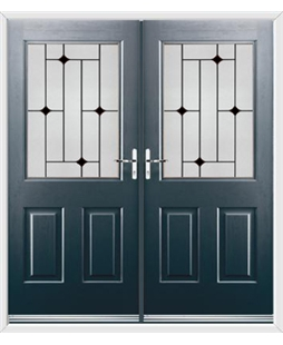 Windsor French Rockdoor in Anthracite Grey with Black Diamonds