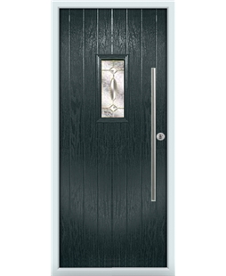 The Zetland Composite Door in Grey (Anthracite) with Clarity Elegance