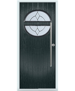 The Xenia Composite Door in Grey (Anthracite) with Classic Glazing