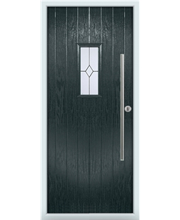 The Zetland Composite Door in Grey (Anthracite) with Classic Glazing