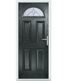 The Derby Composite Door in Grey (Anthracite) with Classic Glazing