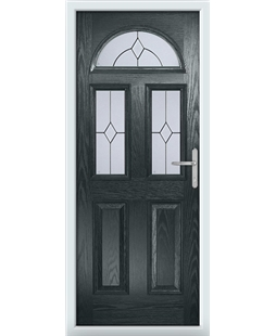 The Glasgow Composite Door in Grey (Anthracite) with Classic Glazing