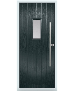 The Zetland Composite Door in Grey (Anthracite) with Clear Glazing