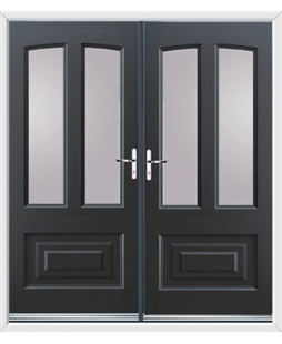 Illinois French Rockdoor in Anthracite Grey with Glazing