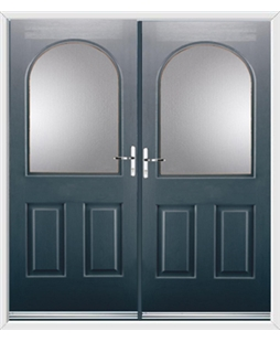 Kentucky French Rockdoor in Anthracite Grey with Glazing