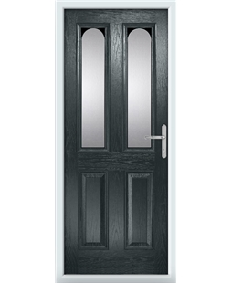 The Aberdeen Composite Door in Grey (Anthracite) with Clear Glazing