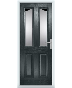 The Birmingham Composite Door in Grey (Anthracite) with Clear Glazing