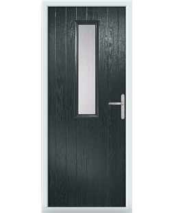 The Sheffield Composite Door in Grey (Anthracite) with Glazing