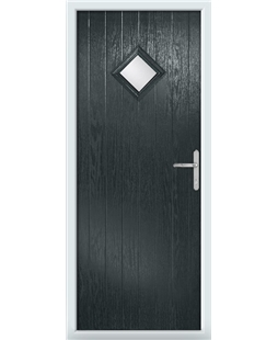 The Reading Composite Door in Grey (Anthracite) with Clear Glazing