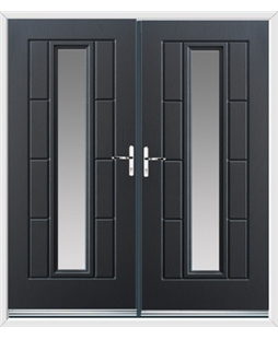 Vermont French Rockdoor in Anthracite Grey with Glazing
