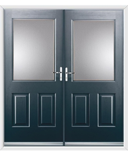 Windsor French Rockdoor in Anthracite Grey with Glazing