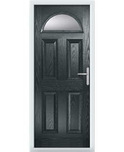 The Derby Composite Door in Grey (Anthracite) with Clear Glazing