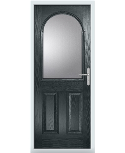 The Edinburgh Composite Door in Grey (Anthracite) with Clear Glazing