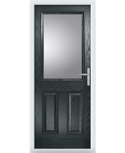 The Farnborough Composite Door in Grey (Anthracite) with Clear Glazing