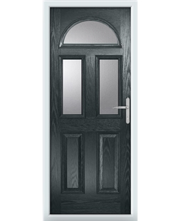 The Glasgow Composite Door in Grey (Anthracite) with Clear Glazing