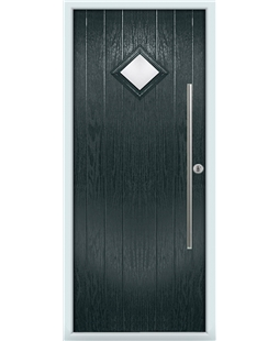 The Wolverhampton Composite Door in Grey (Anthracite) with Clear Glazing