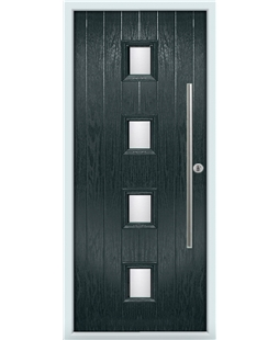 The Leicester Composite Door in Grey (Anthracite) with Glazing