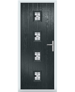The Uttoxeter Composite Door in Grey (Anthracite) with Barcelona Black