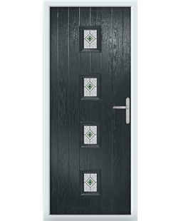 The Uttoxeter Composite Door in Grey (Anthracite) with Daventry Green