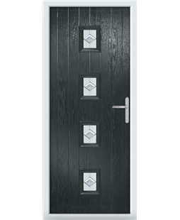The Uttoxeter Composite Door in Grey (Anthracite) with Eclipse