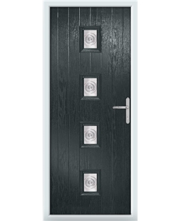 The Uttoxeter Composite Door in Grey (Anthracite) with Bullion