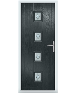 The Uttoxeter Composite Door in Grey (Anthracite) with Cameo