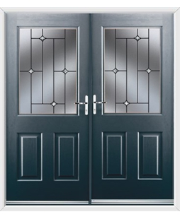 Windsor French Rockdoor in Anthracite Grey with Crystal Bevel
