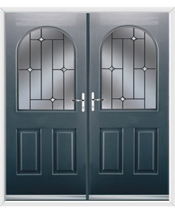 Kentucky French Rockdoor in Anthracite Grey with Crystal Bevel