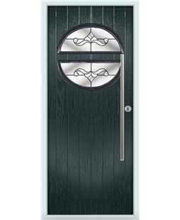 The Xenia Composite Door in Grey (Anthracite) with Clear Crystal Bohemia