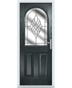 The Edinburgh Composite Door in Grey (Anthracite) with Crystal Eternity