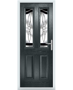 The Birmingham Composite Door in Grey (Anthracite) with Black Crystal Harmony