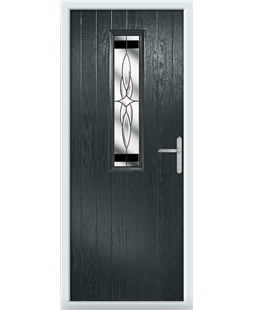 The Sheffield Composite Door in Grey (Anthracite) with Black Crystal Harmony