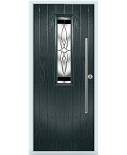 The York Composite Door in Grey (Anthracite) with Black Crystal Harmony
