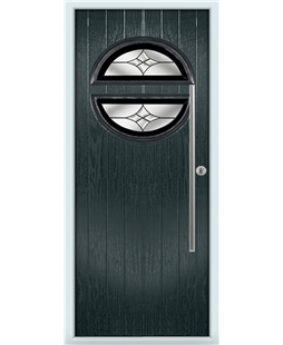 The Xenia Composite Door in Grey (Anthracite) with Black Crystal Harmony