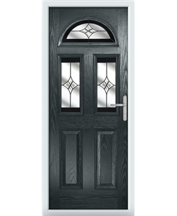 The Glasgow Composite Door in Grey (Anthracite) with Black Crystal Harmony