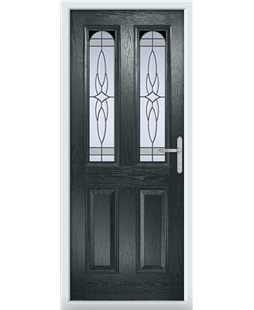 The Aberdeen Composite Door in Grey (Anthracite) with Crystal Harmony Frost