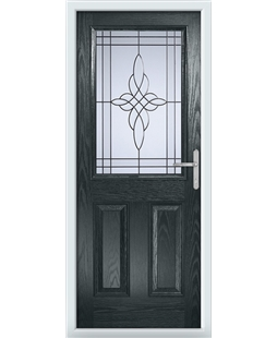 The Farnborough Composite Door in Grey (Anthracite) with Crystal Harmony Frost