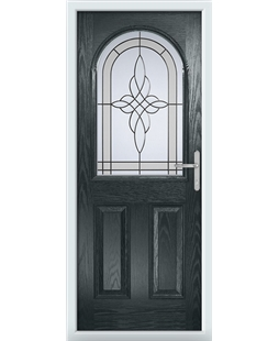 The Edinburgh Composite Door in Grey (Anthracite) with Crystal Harmony Frost