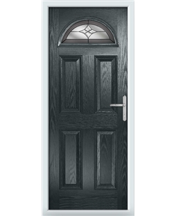 The Derby Composite Door in Grey (Anthracite) with Crystal Harmony Frost