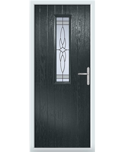 The Sheffield Composite Door in Grey (Anthracite) with Crystal Harmony Frost