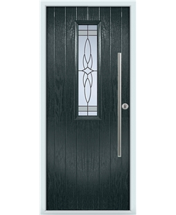 The York Composite Door in Grey (Anthracite) with Crystal Harmony Frost