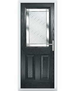 The Farnborough Composite Door in Grey (Anthracite) with Diamond Cut