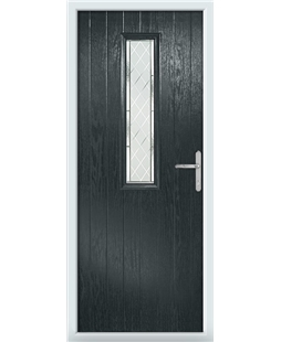 The Sheffield Composite Door in Grey (Anthracite) with Diamond Cut