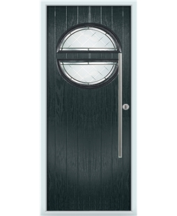 The Xenia Composite Door in Grey (Anthracite) with Diamonds Cut