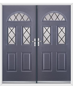 Tennessee French Rockdoor in Anthracite Grey with Diamond Lead