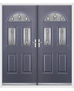 Tennessee French Rockdoor in Anthracite Grey with Dorado Glazing