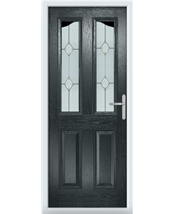 The Birmingham Composite Door in Grey (Anthracite) with Classic Glazing