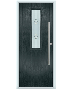 The York Composite Door in Grey (Anthracite) with Classic Glazing