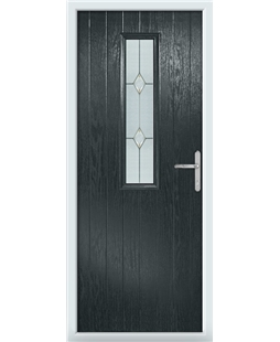 The Sheffield Composite Door in Grey (Anthracite) with Classic Glazing